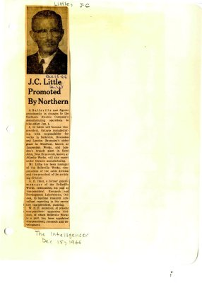J.C. Little promoted by Northern