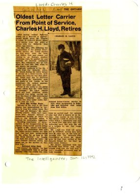 Oldest letter carrier from Point of Service Charles H. Lloyd, retires