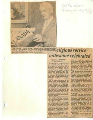 Religious service milestone celebrated
