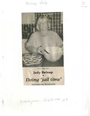"""Judy Belnap: Doing """"jail time"""""""
