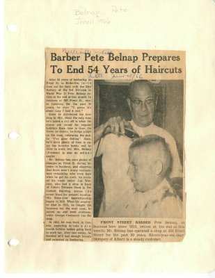 Barber Pete Belnap prepares to end 54 years of haircuts