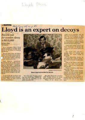 Lloyd is an expert on decoys