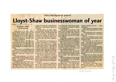 Lloyst-Shaw businesswoman of year
