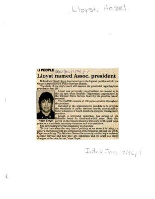 Lloyst named Assoc. president