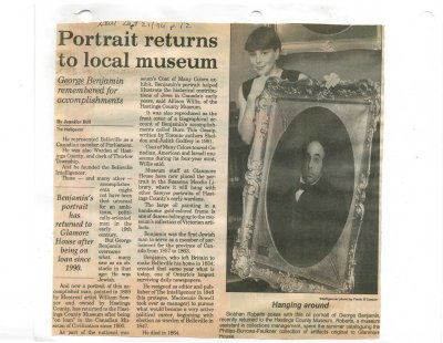 Portrait returns to local museum