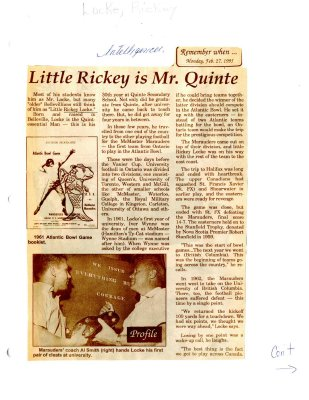 Remember When: Little Rickey is Mr. Quinte