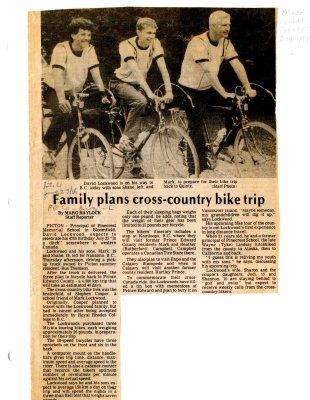Family plans cross-country bike trip