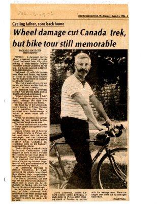 Wheel damage cut Canada trek, but bike tour still memorable