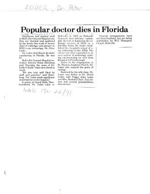 Popular doctor dies in Florida