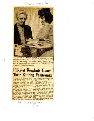 Hillcrest residents honor their retiring postwoman