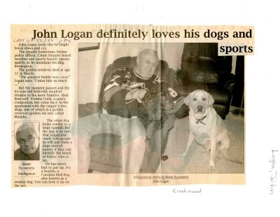 John Logan definitely loves his dogs and sports