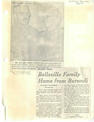 Belleville Family home from Burundi