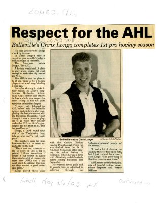 Respect for the AHL