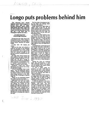 Longo puts problems behind him