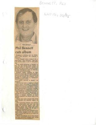 Phil Bennett cuts album