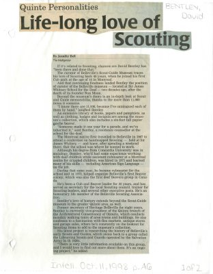 Life-long love of scouting