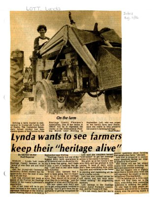 "Lynda wants to see farmers keep their ""heritage alive"""