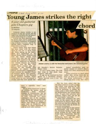 Young James strikes the right chord