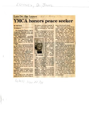 YMCA honors peace seeker