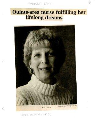 Quinte-area nurse fulfilling her lifelong dreams