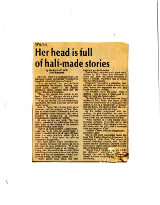 Her head is full of half-made stories