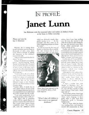 In profile: Janet Lunn