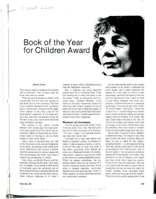 Book of the Year for Children Award