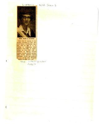 Miss Jean S. Luxton