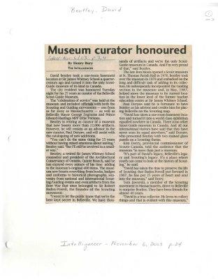 Museum curator honoured