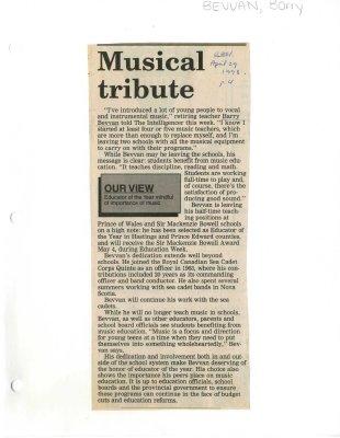 Musical tribute