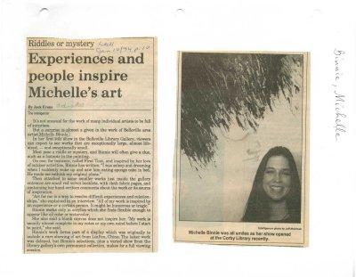 Experiences and people inspire Michelle's art