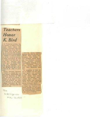 Teachers honor K. Bird