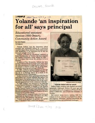 Yoland an inspiration for all says principal
