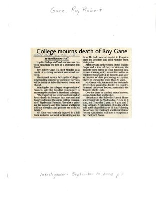 College mourns death of Roy Gane