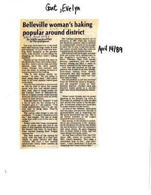 Belleville woman's baking popular around district
