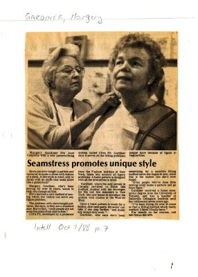 Seamstress promotes unique style