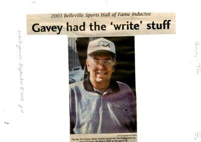 "Gavey had the ""write"" stuff"