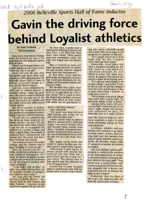 Gavin the driving force behind Loyalist athletics