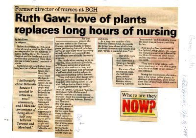 Rugh Gaw: love of plants replaces long hours of nursing