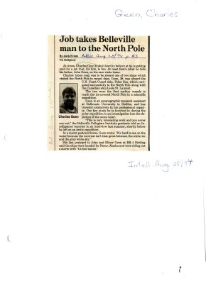 Job takes Belleville man to the North Pole