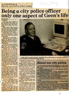 Being a city police officer only one aspect of Geen's life