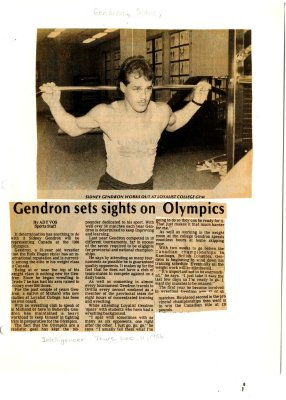 Gendron sets sights on Olympics