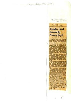 Brigadier Genet honred by Princess Royal