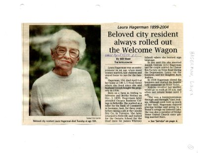 Beloved city resident always rolled out the Welcome Wagon