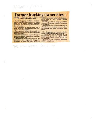 Former trucking owner dies