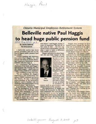 Belleville native Paul Haggis to head huge public pension fund