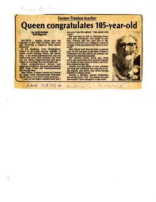 Queen congratulates 105-year-old