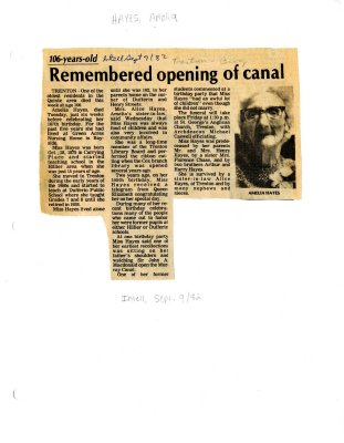 Remembered opening of canal