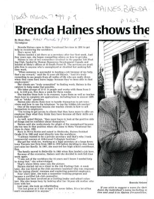 Brenda Haines shows the way
