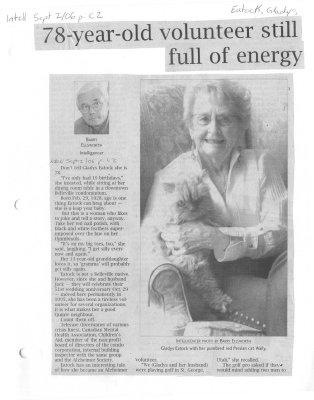 78-year-old volunteer still full of energy